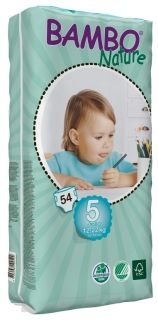 Eко пелени за еднократна употреба Bambo Nature Junior Tall Pack, размер 5, 12-22 кг., 54 броя